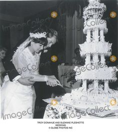 Actors Suzanne Pleshette (1937-2008) and Troy Donahue (1936-2001) were married for 8 months in 1964. She married a second time in 1968 and was widowed after 32 years with Texas oilman Tommy Gallagher and in 2001 she married her third husband actor Tom Poston in 2001 and he died in 2007. Troy married and divorced three more times and was living with a girlfriend when he died of a heart attack.