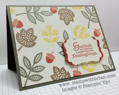 Day of Gratitude, Stampin' Up!, Brian King