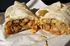 California Burrito * THIS IS EXACTLY HOW NICK IS USED TO HIS BURRITOS FROM HOME! CAN'T WAIT TO MAKE THESE FOR HIM @Tawnia Matirne