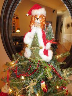 Lilypaddy's Cavalier Christmas tree topper