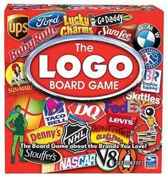 The Logo Board Game Spin Master Brand Kids 12 Adult Family Fun Trivia Quiz Family Board Games, Fun Board Games, Fun Games, Games To Play, Awesome Games, Xbox Games, Playing Games, 99 Logo, Spin