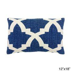 Blue/ White Mykonos Decorative Throw Pillow   Overstock™ Shopping - The Best Prices on Throw Pillows