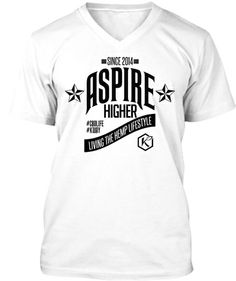 I just purchased my awesome KANNAWAY ASPIRE HIGHER T-SHIRT living the #hemp #lifestyle