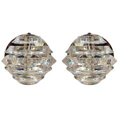 Pair of Polished Nickel and Lucite Sconces | From a unique collection of antique and modern wall lights and sconces at http://www.1stdibs.com/furniture/lighting/sconces-wall-lights/
