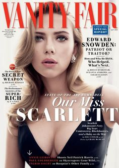 Scarlett Johansson Covers This Month's Vanity Fair Magazine