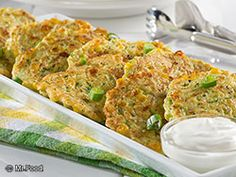 {Zucchini Corn Pancakes} Get your skillet hot and ready 'cause you're going to want to try this recipe for Zucchini Corn Pancakes. This diabetic-friendly, vegetable pancake recipe is full of summer fresh flavors!