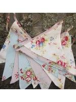 Shabby Chic Floral Bunting ♡ pineapple surprisingly this looks nice without applique or foiling Shabby Chic Bunting, Bunting Garland, Bunting Ideas, Garlands, Shaby Chic, Fairy Birthday Party, Fabric Ribbon, Unique Home Decor, Fairy Lights