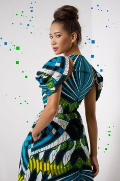 Bold and stunning Flotus Dress made in Africa. $306 on Ethical Ocean. #africa #dress