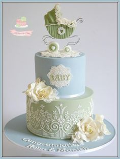 Vintage Boy Baby Shower - Cake by Jo Finlayson (Jo Takes the Cake)