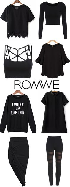 Really absolutely love the black items!So fashion and so easy wear! Romwe.com.
