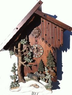 BLACK FOREST WILD TURKEY MASTER CARVERS CUCKOO CLOCK ON OFFER | eBay