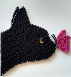 String art - gato preto #hilados