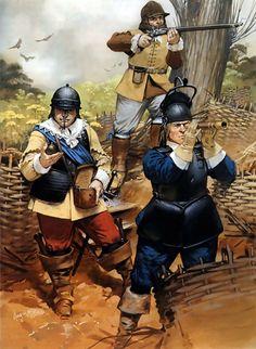 Parliamentarian siege lines, English Civil War