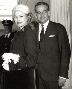 Prince Rainier and his wife, Princess Grace  of Hollywood, Philadelphia and Monaco.