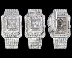 Piaget Emperador Temple Watch –  With 2 watches built into the diamond bracelet. Price: $3.3 million.