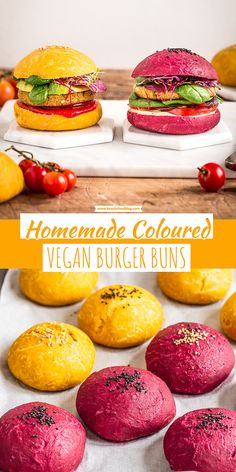 Healthy turnips and carrots VEGAN BURGER BUNS recipe with spelled flour - Vegane Rezepte - recipes Vegan Foods, Vegan Dishes, Vegan Vegetarian, Vegetarian Recipes, Cooking Recipes, Healthy Burger Recipes, Pasta Recipes, Vegan Beet Recipes, Healthy Chips
