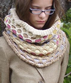 Free Knitting Pattern for Western Desert Cowl Hood - This honeycomb patterned cowl is large enough to pull over your head as a hood. Designed by Virginia Catherall