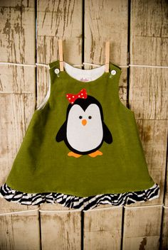 I could do a felt penguin applique on a tshirt or pillowcase dress.