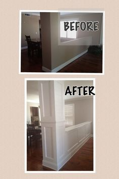 before and after moldings #homeremodelingbeforeandafter
