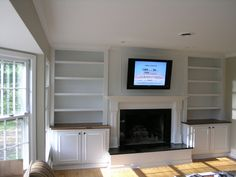 fireplace with built in bookshelves | Hudson Valley, NY Remodeling Contractors - Agape Remodeling #1 Local ...