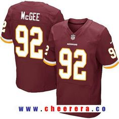ab2175cc7 Men s Washington Redskins  92 Stacy McGee Burgundy Red Team Color Stitched  NFL Nike Elite Jersey