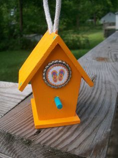 Orange Flip Flop Birdhouse