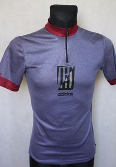 Mens  ADIDAS  Retro Vintage Abstract Cycling Jersey sz 3 Grey b7b41c247