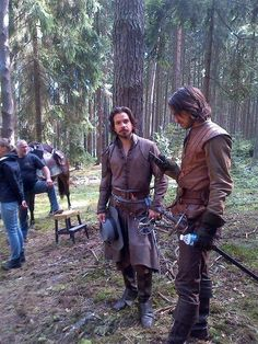 The Musketeers series II BtS filming via Jessica Pope's twitter 'and a few trees down'.