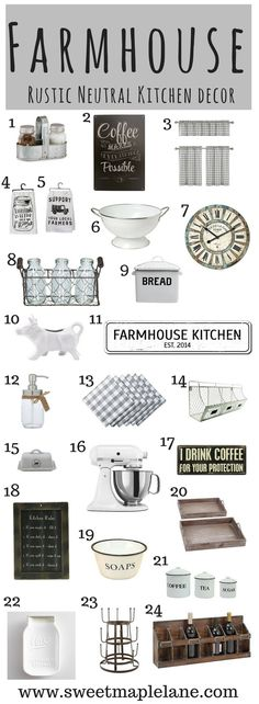 kitchen / farmhouse / industrial / neutral / kitchen decor / home decor / storage / wooden sign / plaid The ultimate rustic farmhouse kitchen decor to add some farmhouse style to your kitchen and give it a little rustic country makeover! Farmhouse Baskets, Country Farmhouse Decor, Farmhouse Kitchen Decor, Home Decor Kitchen, Country Kitchen, Rustic Decor, Home Kitchens, Farmhouse Style, Kitchen Ideas