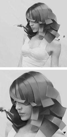 Digital Portraits by Denis Gonchar | Inspiration Grid | Design Inspiration
