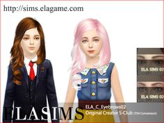 elagamestudio:  Sims 4 Eyebrows for kids  For boy & girl Original creator: S-Club  You can download via our website. Our website also offers English so if you become a member you can downloadeverything. Follow us & check new items (http://elagamestudio.tumblr.com/) Elasims(http://sims.elagame.com/) (You don't have beregisterto download of elasims Hair) Download link