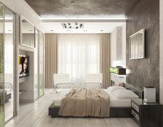 Elegant small modern bedroom apartment