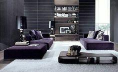 Love the dark grey and purple