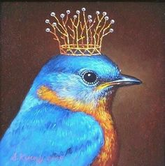 ideas blue bird illustration beautiful for 2019 Art And Illustration, Fantasy Kunst, Fantasy Art, Motifs Animal, Arte Popular, Whimsical Art, Animal Paintings, Pet Portraits, Beautiful Birds