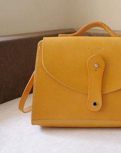 Handmade leather crossbody Satchel School messenger Shoulder Bag for women