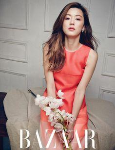"Jun Ji Hyun Interview in Harper's Bazaar Vietnam May Issue Part 1 Jeon Ji Hyun rose to stardom since 2001 after she starred in the South Korean box office hit ""My sassy Girl. Korean Beauty, Asian Beauty, Asian Celebrities, Celebs, Asian Woman, Asian Girl, My Sassy Girl, Fashion Cover, Women's Fashion"
