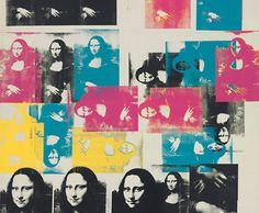 """Pop Art Sérigraphie """"Colored Mona Lisa"""" (1963) par Andy Warhol  Séquence sur les détournements artistiques et publicitaires Niveau débutants/intermédiaires A2"""