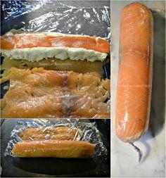 Recette des rouleaux de saumon farci au fromage blanc, saumon fumé