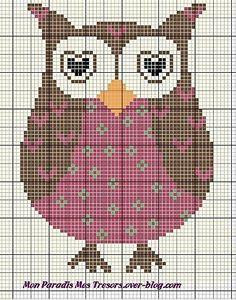 Twit Twooohoooo. Owl cross stitch. Buho punto cruz