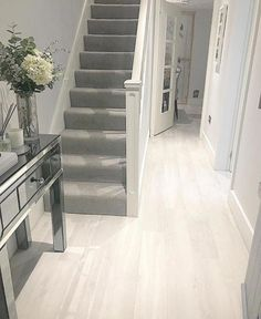 House interior – Hall stairs and landing decor 16 ideas grand stairs case stairways Stairs In Living Room, Staircase Design, Interior Decorating, Home, Landing Decor, House Stairs, Grey Hallway, Hallway Flooring, Stairways