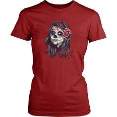 Sugar Skull Lady Halloween T-shirt