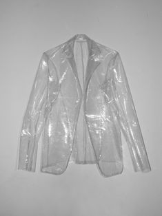 clear blazer. Perfect for rainy days when you still want to show off your cute outfit.