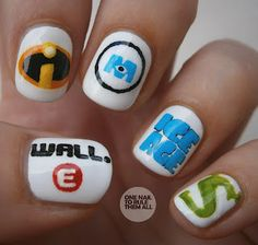pixar nails. http://onenailtorulethemall.tumblr.com/