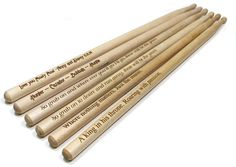 Personalized Drum SticksLaser Engraved Drum SticksProfessional Grade 5a DrumsticksWood Tip Drum Sticks