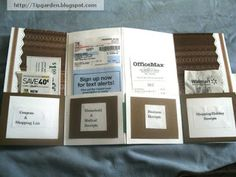 Use a plain pocket folder to make a receipt and/or coupon organizer