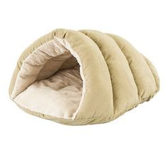 SleepZonebyEthicalPet Cuddler Cave Hooded Dog Bed Color: Tan