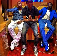 (3M360) MUSIC MOVIES MEDIA: Photo: Wizkid hangs out with Tyrese and Akon in LA...