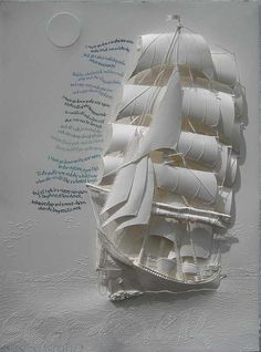 Original Paper Sculpture Art with each sculpture individual cut, folded and hinged