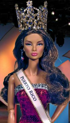 Puerto Rico..44...4 Miss Puerto Rico, Miss Pageant, Barbie Miss, Barbie Dolls, Dolls Dolls, Miss Usa, Miss World, Collector Dolls, Fashion Dolls