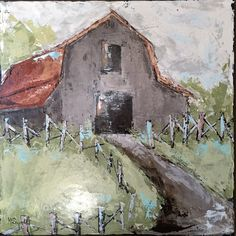 Ideas for photography arte abstract canvases Mary Cassatt, Abstract Canvas, Canvas Art, Monet, Farmhouse Paintings, Country Paintings, Barn Art, Old Barns, Collage